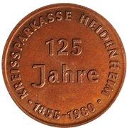 Token - Sparkasse Heidenheim (Bronze issue) – reverse