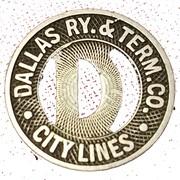 1 City Fare - Dallas Ry. & Term. Co. – obverse