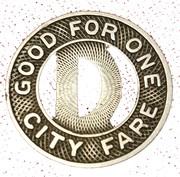 1 City Fare - Dallas Ry. & Term. Co. – reverse