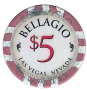 5 Dollars - Bellagio (Las Vegas, Nevada) – reverse