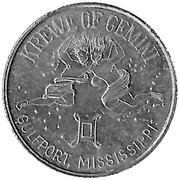 Mardi Gras Token - Krewe of Gemini (Paradise Isle; Gulfport, Mississippi) – obverse