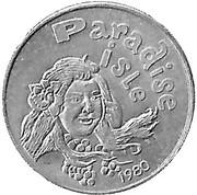 Mardi Gras Token - Krewe of Gemini (Paradise Isle; Gulfport, Mississippi) – reverse