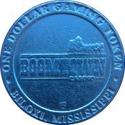1 Dollar Gaming Token - Boomtown Casino (Biloxi, Mississippi) – reverse