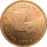 Token - Shell's States of the Union Coin Game, Version 1 - Bronze Collector's Coin Set (Louisiana) – obverse