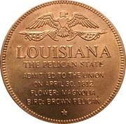 Token - Shell's States of the Union Coin Game, Version 1 - Bronze Collector's Coin Set (Louisiana) – reverse