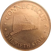 Token - Shell's States of the Union Coin Game, Version 1 - Bronze Collector's Coin Set (Connecticut) – obverse