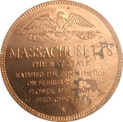 Token - Shell's States of the Union Coin Game, Version 1 - Bronze Collector's Coin Set (Massachusetts) – reverse