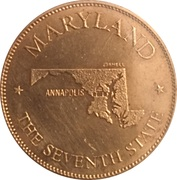 Token - Shell's States of the Union Coin Game, Version 1 - Bronze Collector's Coin Set (Maryland) – obverse