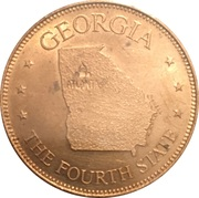Token - Shell's States of the Union Coin Game, Version 1 - Bronze Collector's Coin Set (Georgia) – obverse