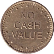 Token - No Cash Value (Eagle looking left; without text; Brass; 25 mm) – reverse