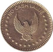 "Token - No Cash Value (""Raised"" Eagle looking left; Brass; 22.3 mm) – obverse"