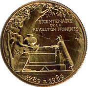 Token - Révolution Française (Projet 1985) – reverse