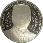 Token - Latvijas ievērojamākie cilvēki. Kārlis Ulmanis – obverse