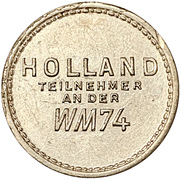 Token - 1974 FIFA World Cup (Netherlands) – reverse