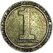 1 Dollar Gaming Token - Grand Casino (Gulfport, Mississippi) – reverse