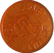 Metro Token - Yerevan (Orange transparen) – reverse
