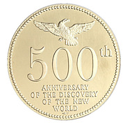 Token - 500th Anniversary of the Discovery of the New World – obverse