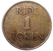 1 Ride Token - Pirates Cove – reverse