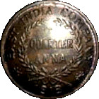¼ Anna - East India Company – obverse