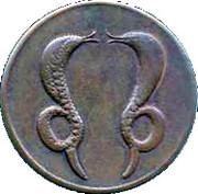 ½ Anna - East India Company – reverse