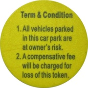 Parking Token - Parktron – reverse