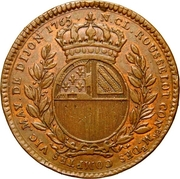 Token - États de Bourgogne (Maire de Dijon Nicolas-Claude Rousselot) – reverse