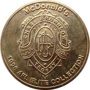 Token - McDonald's AFL Elite Collection (Centenary 1996) – reverse