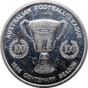 Token - Herald Sun AFL Medal (Centenary 1996) – reverse