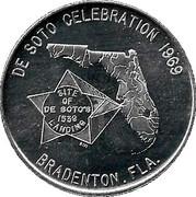 Token - De Soto Celebration (Bradenton, Florida) – obverse