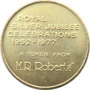 Token - 1977 Royal Silver Jubilee (Menura Superba) – reverse