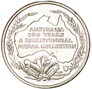 Australia 200 Years Medal Collection (The Golden age of sport) – reverse