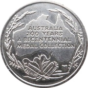 Australia 200 Years Medal Collection (Blaxland, Wentworth and Lawson) – reverse