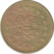 Token - No Cash Value (Eagle looking right; 23 mm; Brass; more detailed image of the eagle) – obverse
