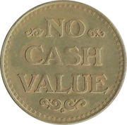 Token - No Cash Value (Eagle looking right; 23 mm; Brass; more detailed image of the eagle) – reverse
