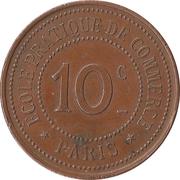 10 Centimes - Ecole pratique de Commerce - Paris [75] – reverse