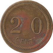 20 Centimes (Moon) – reverse