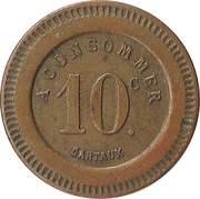 10 Centimes - A Consommer (Mountain) – reverse