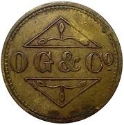 1 ½ Shilling - Osborne, Garret & Co (O. G. & Co) – obverse