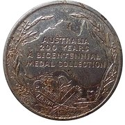 Australia 200 Years Medal Collection (Burke & Wills) – reverse