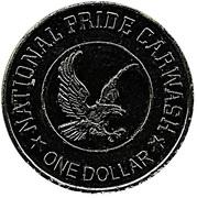 1 Dollar Carwash Token - National Pride Carwash – obverse