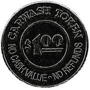 1 Dollar Carwash Token - National Pride Carwash – reverse