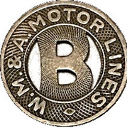 1 Fare - W.M.& A. Motor Lines (Washington, D.C.) – obverse