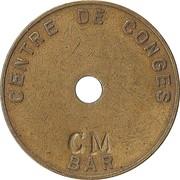"""Token - Centre de congés / Bar La Napoule (countermaked """"CM"""") – obverse"""