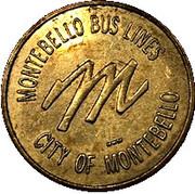 1 Fare- Montebello Bus Lines (Montebello, California) – obverse