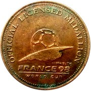 Official Licensed Medallion France 98 World Cup (Iran) – reverse