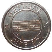 Jukebox Token - Gettone Apparecchi da Gioco (Pilotti M., Torino) – reverse