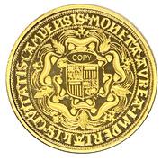 Réplique double souverain d'or - Rosenobel von Kampen – reverse