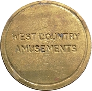 Token - West Country Amusements – obverse