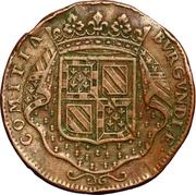 Token - États de Bourgogne (La Bourgogne soutenue par les princes de Condé) – reverse