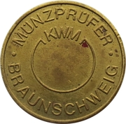 Token - KWM Münzprüfer (Karl W. Müller KG; no hole; without circle on obverse; 26 mm) – obverse